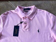 Polo Ralph Lauren Mesh Shirt Mens XXL Carmel Pink wBlue Pony $89 Classic Fit NWT