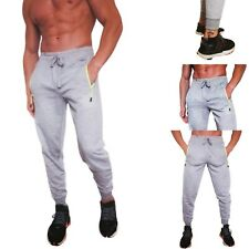 Mens Fleece Elasticated Jogging Bottoms Track Pants Casual Joggers Trousers Grey