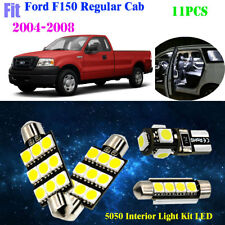 11Pcs 5050 Cool White Interior Light Kit LED For 2004-2008 Ford F150 Regular Cab