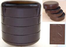 "Rino Pirovano: Trinket Stack/Desk Tidy: Brown Plastic: Italy: Art 900: 5¼"" Tall"