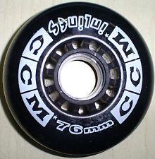 Retro Black Ccm Inlin 00004000 E Skate Wheel Recreation Fitness Speed Skating 76Mm