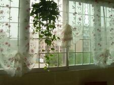 1 PC Charming Rose Balloon Sheer Voile Pull Up Curtain with Embroidery B012