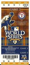 2010 World Series Full Season Ticket Game 3 Texas Giants