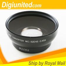 PIXCO 52 mm 52 mm 0.45x Grand Angle Objectif photo Convertisseur + macro avec 67 mm Front