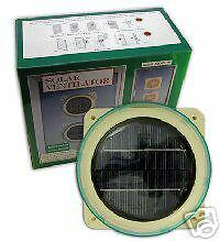 GREENHOUSE SOLAR FAN GM712 FOR GENTLE AIR EXTRACTION WITH EXTRA FREE FIXINGS KIT