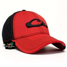 DRAKE WATERFOWL GAME DAY FITTED HAT GEORGIA RED BLACK MD LG FLEX FIT
