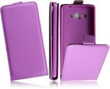 Samsung Galaxy Grand Prime/G530H Flip PU-Leder Slim-Flexi Handy Tasche Purple-2