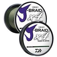 NEW DAIWA J-BRAID X4 BRAIDED LINE DARK GREEN select models