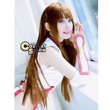 100CM Party Women Anime for DEAD OR ALIVE Kasumi Long Straight Brown Cosplay Wig