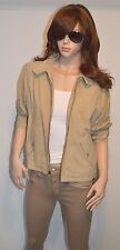 New $998 Ralph Lauren Suede Leather Barracuda Bomber Jacket Beige Small S