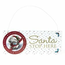 Me to You G01Q6085 Tatty Teddy Santa Stop Here Plaque