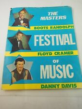 The Masters Festival of Music Boots Randolph Floyd Cramer Danny Davis PROGRAM