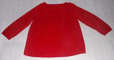 Karen Scott Petites Womens Red Velvety Acrylic Pullover Sweater PM Medium