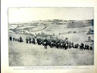 Original Old Antique Print 1915 World War French Infantry Siers France Troop