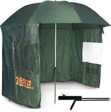 Zebco Angel Schirmzelt Angelschirm Angler Schirm Zelt 2,50m + Schirmstütze Set