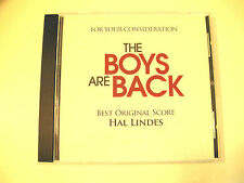 THE BOYS ARE BACK  Movie CD Soundtrack  FYC BEST ORIGINAL SCORE  Hal Lindes