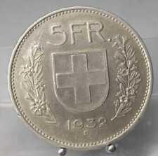 Swiss, 5 Franken 1932, Silber