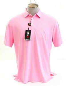 RLX Ralph Lauren Pink Short Sleeve Golf Polo Shirt Men's NWT