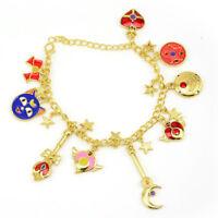 Sailor Moon Bracelet Luna Moon Stick Metal Pendant Charm Waistband Cosplay Gift