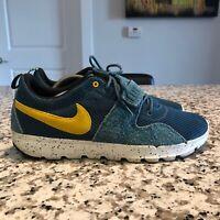 nike sb trainerendor Size 11.5 Blue Yellow