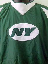 New York Jets Windbreaker Pullover Jacket Med NFL Football Green Size Zipper