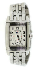 Jaeger LeCoultre Reverso Day Night Diamond Stainless Steel Watch 296.8.74