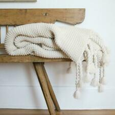 Pom Pom At Home Trestles Oversize Throw Blanket, Antique White, New, Retail $185