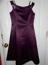 JESSICA MCCLINTOCK Wine Holiday Party Chirstmas Dance Satin Formal Dress Girl 16
