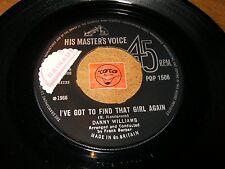 DANNY WILLIAMS - I'VE GOT TO FIND THAT GIRL AGAIN   / LISTEN - BALLAD POPCORN
