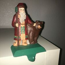 Midwest Importers of Cannon Falls Cast Iron Stocking Hanger Christmas Santa Bear