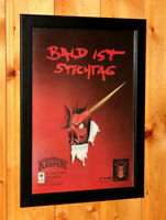1997 Dungeon Keeper Video game Old Rare Small Poster / Vintage Ad Page Framed