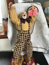 "Show Stoppers Doll Hobo Clown Curly 12"" tall"