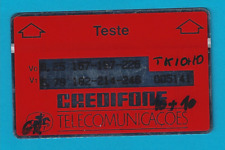 Telefonkarte - CREDIFONE TELECOMUNICACÒES - Landis & Gyr - TESTE - optical card