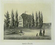 Tonlithografie 1854 - LOBSTÄDT Rittergut Großzössen - Poenicke