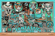 Tyler Stout Fantastic Mr. Fox Signed Variant Poster Screen Print Sold Out
