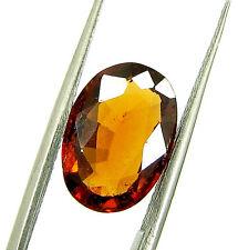 3.68 Ct Certified Natural Garnet/Hessonite/Gomed Loose Gemstone Stone - 118711