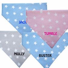 Dog Bandana Personalised Dog Name Slide On Collar Various Colours - Star Design