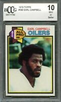 1979 topps #390 EARL CAMPBELL houston oilers rookie card (CENTERED) BGS BCCG 10