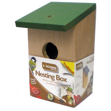 Traditional Wooden Wild Bird Nesting Box Small Garden Bird House