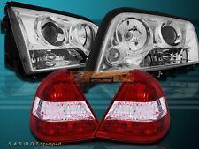 1994-00 Mercedes C-Class 4 Door Sedan Chrome Projector Headlights + Tail Lights