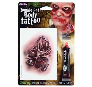 Zombie Moder Halloween Kostüm Falsche Narbe Tattoos Blutig Scab Makeup