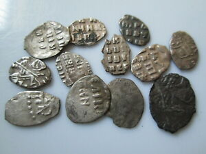 Russian medieval silver wirw coins