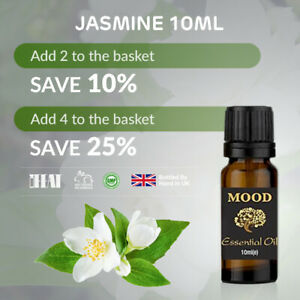 Jasmine Pure Natural Aromatherapy Essential Oils Diffuser Fragrance 10ml