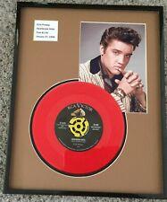 Elvis Presley Set Of 2 45 Matted and Framed Heartbreak Hotel Suspicious Minds