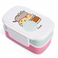 PUSHEEN Cat LUNCH BOX Plastic 5pc Bento Box with Cutlery