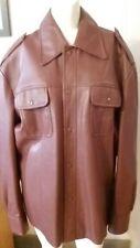 Men's Brown Marshall Field & Company Vintage Lined Vinyl Jacket Size XL Pockets