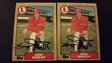 Ken Dayley Cardinals 1987 Topps #59 Braves Signed Authentic Autograph JA15