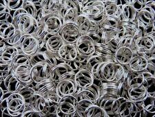 300 Pcs -  12mm Silver Plated Split Rings Jewellery Findings Beadings Q137