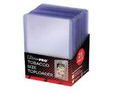 (25) Ultra Pro Mini Tobacco Size Topload Card Holders A&G T-206 Toploaders