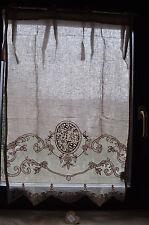 Scheibengardine Gardine Vorhang puder Landhaus Shabby 90 x 60 Leinen BW Mariclo